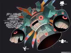 E Corp Special: Gosizong by Dragonith on DeviantArt Pokemon Fusion Art, All Pokemon, Pokemon Fan Art, Pokemon Mix, Pokemon Stuff, Mega Evolution, Pokemon Pictures, Digimon, Power Rangers