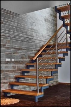 Modern Staircase Design Ideas - Stairways are so typical that you do not give them a reservation. Look into best 10 instances of modern staircase that are as stunning as they are . Stair Railing Design, Staircase Railings, Stairways, Bannister, Stair Builder, Escalier Design, Building Stairs, Building Homes, Steel Stairs