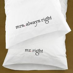 Mr and Mrs Pillows #watermarkstationery