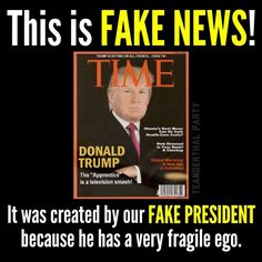 HILARIOUS...MADE HIS OWN MAGAZINE COVER...WHAT A PIECE OF CRAP THIS PERSON IS...NOT MY PRESIDENT!