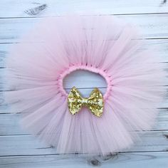 Pink and Gold Tutu. First Birthday Outfit. Princess Unicorn