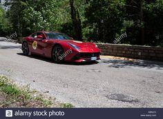 Download this stock image: FERRARI BERLINETTA 2012 on an old racing car in rally Mille Miglia 2017 the famous italian historical race (1927-1957) on May 19 2017 - KB5G7J from Alamy's library of millions of high resolution stock photos, illustrations and vectors.