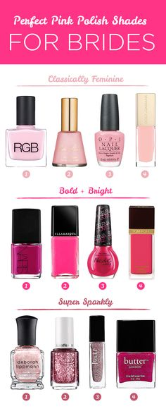 Polish your paws for your wedding in these fun pink shades!