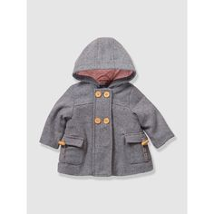 Baby Girl's Hooded Wool Mix Coat VERTBAUDET | La Redoute Mobile