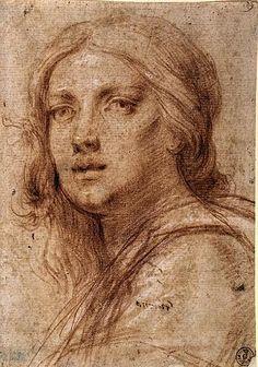 Francesco Furini, Testa di donna, sec. XVII, Galleria degli Uffizi, Firenze