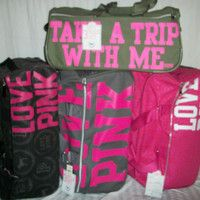 Pink Victoria's Secret luggage.. #luggage #pink | I Want This ...