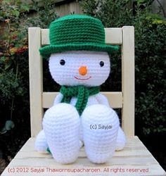 snowman+crochet+patterns   Snowman Amigurumi Crochet Pattern for Christmas