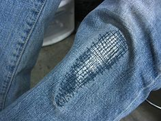 MAKE | How-To: Patching Pants with Stylish Stitches