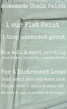 DIY- Make your OWN chalk paint, way cheaper than buying it!