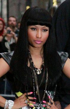Nicki Minajs multi-colored hairstyle