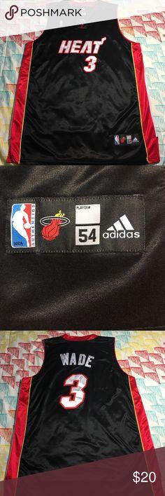 Miami Heat Dwayne Wade Adidas Basketball Jersey Size 54 - Condition 9.5/10 Adidas Shirts