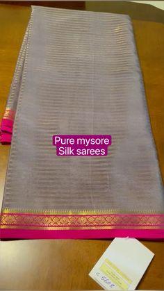 Mysore Silk Saree, Chanderi Silk Saree, Silk Sarees, Saree Blouse Patterns, Saree Blouse Designs, Saree Designs Party Wear, Golden Blouse, Maggam Work Designs, Fruits Photos