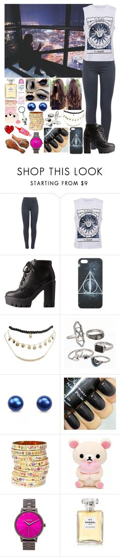 """""""Sin título #1181"""" by gisella-jb-pintos ❤ liked on Polyvore featuring J Brand, Charlotte Russe, Wet Seal, Mudd, Bijoux de Famille, Nixon and Chanel"""