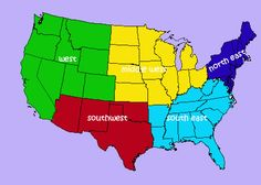 Regions of the United States-A student to student communication project.