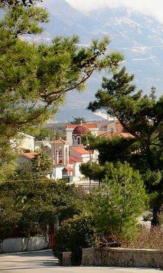 Lakythra village in Livatho Region, Kefalonia Island, Greece