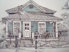 Custom Illustration Painting Portrait of your Home
