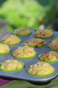 Muffins à la courgette et au chèvre frais (sans gluten) - Muffins with zucchinis and goat cheese (gluten free) - Vanessa Romano-Photographe et styliste culinaire-
