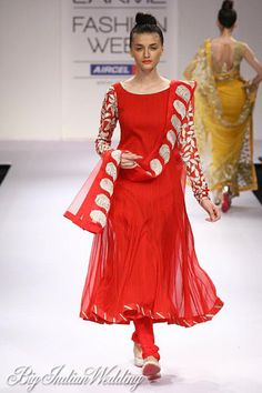 red suit perfect for #indianwedding