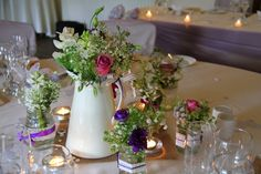square jam jars wedding decorations - Google Search