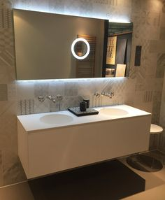 INCAVO furniture (h 75cm) and glass top with integrated sinks ...