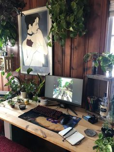 My new Jungle Station : battlestations Gaming Room Setup, Pc Setup, Desk Setup, Gaming Desk, Home Office Setup, Home Office Design, Workspace Inspiration, Room Inspiration, Bedroom Setup