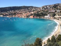 view onto the bay of villefranche sur mer.  (monaco) #travelcolorfully