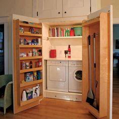 Hidden Laundry Room for small laundry.
