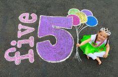 Happy fifth birthday chalk drawing 2015 birthday party photography # Happy 5th Birthday, Art Birthday, Chalk Photography, Birthday Photography, Party Photography, Summer Photography, Chalk Pictures, Art For Kids, Crafts For Kids