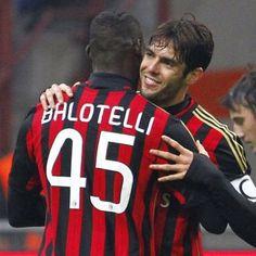 Kaka and Mario Balotelli AC Milan