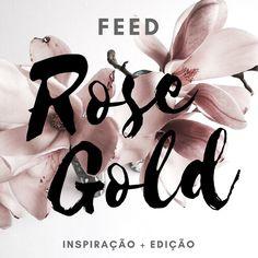 Questões de Opinião: Feed Rose Gold: Inspirações + Edição