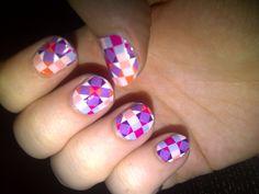 printed nail design