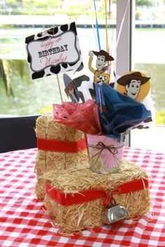 """Photo 30 of Toy Story/Cowboy / Birthday """"Woody's Round Up Party"""" Jessie Toy Story, Toy Story Baby, Toy Story Theme, Woody Party, Toy Story Birthday, 3rd Birthday, Birthday Ideas, Cowboy Theme Party, Redneck Party"""