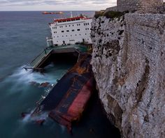 Amazing Photographs of MV Fedra Shipwreck off Europa Point, Gibraltar