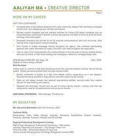 creative director page2 - Handyman Resume