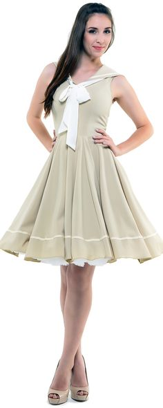 Tan Sweet Sails Swing Dress