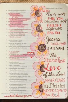 Lamentations 3:21-33 July 6, 2015 carol@belleauway.com, colored pencil, bible art journaling, journaling bible, illustrated faith