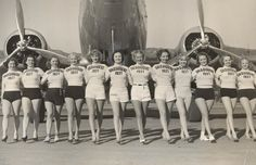 In Front of a Prop Plane...1937