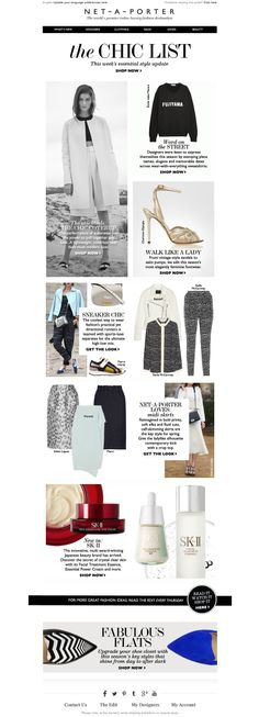 #newsletter Net-a-porter 03.14  From fashion runners to fairy-tale heels...