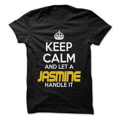 (Tshirt Deals) Keep Calm And Let JASMINE Handle It Awesome Keep Calm Shirt at Tshirt United States Hoodies, Tee Shirts