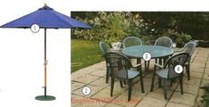 1. umbrella 2. patio 3. (patio) table 4. (patio) chair Patio Table, Patio Chairs, Garden Hose, Garden Tools, Picture Dictionary, Yard Waste, Grass Seed, Gardening Gloves, Flower Beds