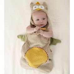 "its SO cute ! Baby Aspen ""My Little Night Owl"" Snuggle Sack and Cap"