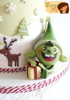 ...Y aquí está!!!! mi nueva ilustratarta 02, especial navidad!!! Esto es sólo un adelanto, ya iré subiendo mas fotitos de la tarta.   Esta ...
