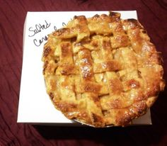 Salted caramel apple pie from Prague Pie Hole Salted Caramel Apple Pie, Caramel Apples, Pie Hole, Taste Of Home, Prague, Dishes, Desserts, Food, Tailgate Desserts
