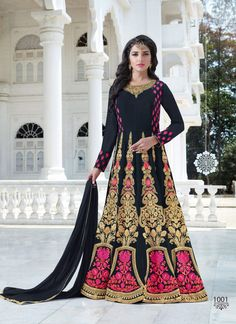 Heavy Embroidered Navy Blue Anarkali Suits