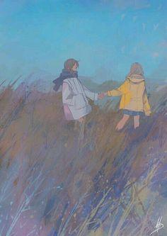 Inspirationally Sane By Art And Music : Photo Art And Illustration, Character Illustration, Art Anime, Anime Kunst, Cartoon Kunst, Cartoon Art, Pretty Art, Cute Art, Aesthetic Art