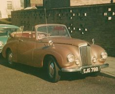 1950 Sunbeam Talbot Purchased for in Hood down Vintage Cars, Antique Cars, Mk 1, British Sports Cars, Great British, Fast Cars, Sport Cars, Old Cars, Talbots
