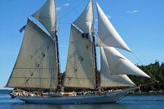 Maine windjammer cruises aboard the schooner Mary Day