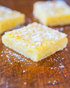 Yes, these are the best lemon bars ever. Super tangy, and good texture, delicious.  I doubled the recipe and put in a 9x13 pan.