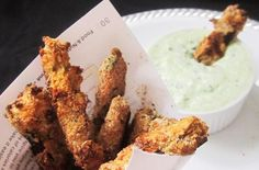 Foodista | Recipes, Cooking Tips, and Food News | Eggplant Fries with Tzatziki Sauce
