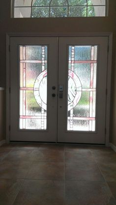 Rsl skyline decorative glass door insert in fiberglass - Decorative glass exterior door inserts ...